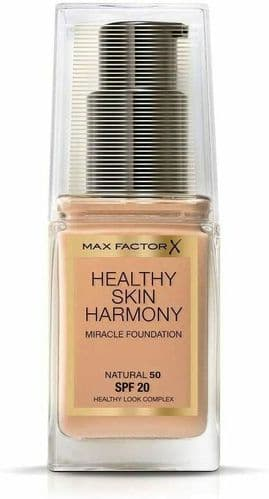 12 x Max Factor Healthy Skin Harmony Foundation | Natural 50 | RRP £180 | 30ml